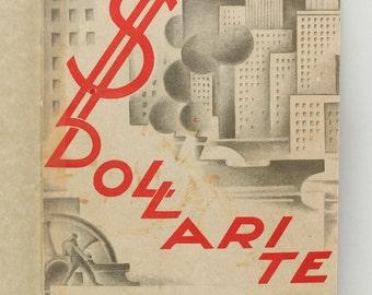 1930 Estonia Avant Garde Cover Felix VALDMAN Riisman Book DOLLARITE JAHIL