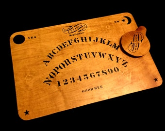 Wooden Ouija Board Set with Planchette Antique Kennard Reproduction Vintage Replica Spirit Board