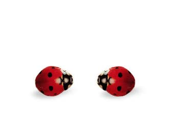 Ladybug Stud Earrings - Ladybug Earrings - Cute Ladybug - Stud Earrings - Earrings - Hypoallergenic Nickel Free Stud Earrings