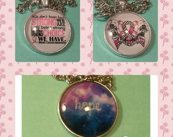 breast cancer awareness, hope life necklaces, keychains