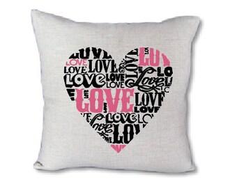 Love Heart-pillow cover