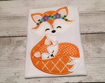 Fox Shirt For Girls - Girl Fox Shirt - Mommy And Baby Fox Shirt - Children Fox Shirts
