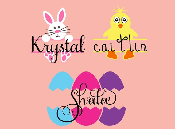 Personalized easter stickers easter vinyl decals decals for like this item negle Images