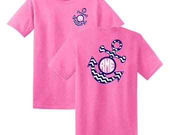 Anchor Chevron Monogrammed T-shirt