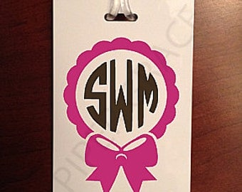 Monogrammed Luggage Tag, Personalized Luggage Tag, Monogram Gifts, Baby Gift Ideas, Baby Gift, Bridesmaids Gift Ideas, Mothers Day Gift