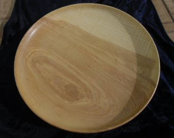 Wooden handmade big plate ash wood tray,home decor,gift,naturalness wood product