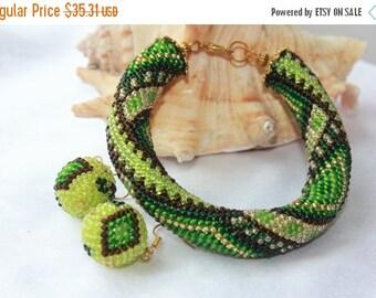 SALE 25% bracelet girlfriend cute bracelet anniversary gifts Crochet bracelet Beaded Geometric bracelet her birthday bracelet