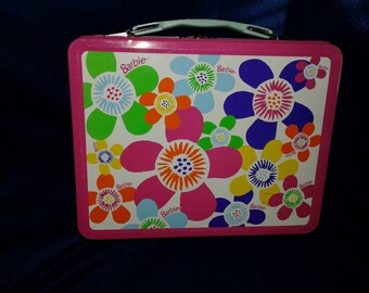 90s Barbie metal lunch box no thermos