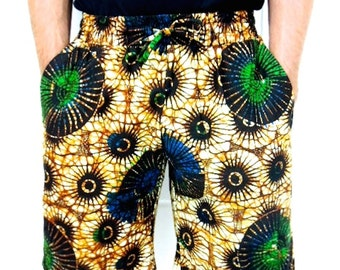 Africa Print Shorts, Africa Shorts, Ankara Shorts, Women Board Shorts, Africa Clothing, Unisex Shorts, Men