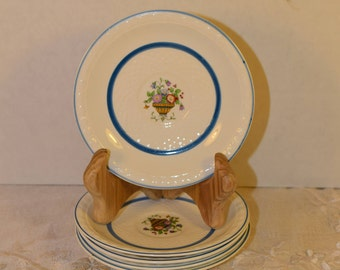 Grindley Peveril Salad Plate Set of 5 Vintage WH Grindley & Co Made in England 5 Small Plates Appetizer Dessert Side Plates English China