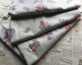 Charming Homespun Farmhouse Fabric - 2 Yards - Pink Lavender Yellow