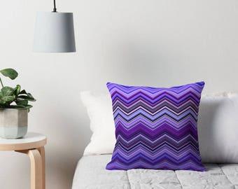 Purple Chevron Pillow, Purple Bedding, Purple Cushion, Purple Pillow Case, Chevron Pillow, Purple Decor, Purple Toss Pillow, Purple Bedroom