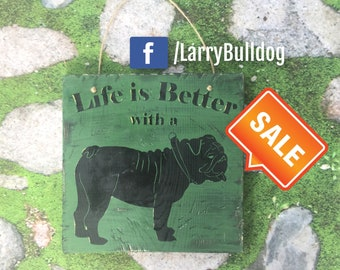 5 dollars off! English Bulldog Home Decor Sign  *FREE USA SHIPPING
