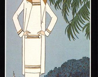 Authentic 1979 Vintage Art Deco Fashion Print 'Le Golf a Cagnes' Art, Gout, Beaute