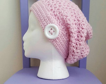 Valerie's Slouchy Beanie Crochet Pattern *PDF DOWNLOAD ONLY* Instant Downlod
