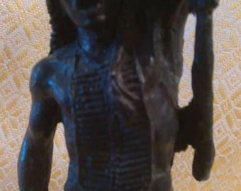 Solid bronze indian figure