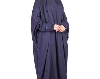Navy Blue One Piece Prayer Dress, Musim Prayer Dress