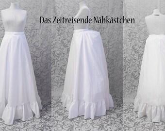 Victorian underskirt, bustle skirt, white - custom size