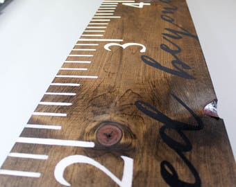 Wood Growth Chart Ruler - Loved Beyond Measure - Home Decor