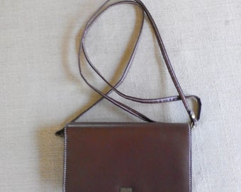 Vintage Brown Leather Crossbody Bag by Buxton, Small Crossbody Purse, Small Leather Clutch Purse, Buxton Purse, Buxton Wallet, Small Purse