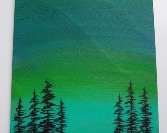 Green Sky Painting