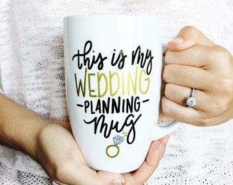 This is My Wedding Planning Mug // Hand Lettered Design