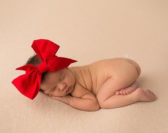 KETCHUP Gorgeous Wrap- headwrap; fabric head wrap; red head wrap; boho; newborn headband; baby headband; toddler headband