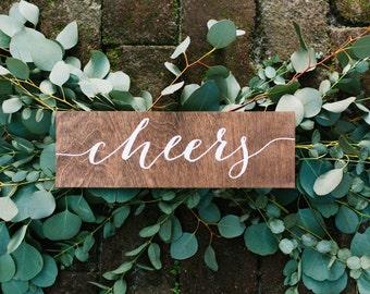 Cheers sign, wedding cheers sign, wedding bar sign, bar sign, wood cheers sign, wood bar sign, wood wedding signs, wooden wedding signs