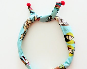 Frida Kahlo headband, frida kahlo fabric, wire headband, twist headband, gift for her, hair accessory, dolly bow, most opular item, trending