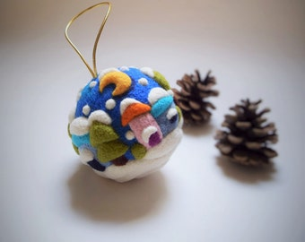 Christmas Ornaments Felt Holiday Decorations Gift Whimsical Decor Home Christmas Gift