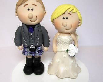 Wedding Cake Topper, Personalised  Bride And Groom, Custom made to order, wedding cake figurines, cake decoration