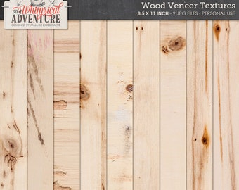 Wooden papers, wood veneer, wooden textures, paperpack, letter size, printable papers, real wood veneer, backgrounds, textures, cardstock