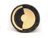 Handwoven African Basket, Home Decor Basket, Ethnic Wall Art, Kitchen Decor, Made in Africa, Made in Rwanda, Made by Ubushobozi