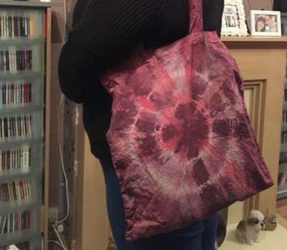 Burgundy & Red Tie Dye Bag