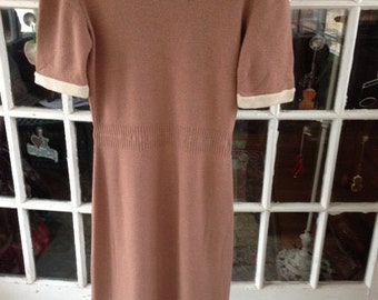 Sale:  50's wool knit dress, new old stock