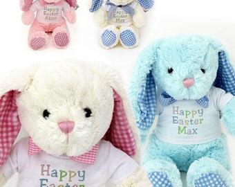 Easter gift for baby etsy easter bunny rabbit with personalised t shirt cute cuddly new baby gift negle Image collections