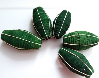 Large size (45mm),  African barkcloth beads (6 beads),Ugandan handmade ,Tree bark beads, chunky beads, red beads,Fair trade beads