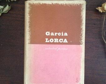 """RARE vintage book - """"Selected Poems"""" by García Lorca, Design by Alvin Lustig."""