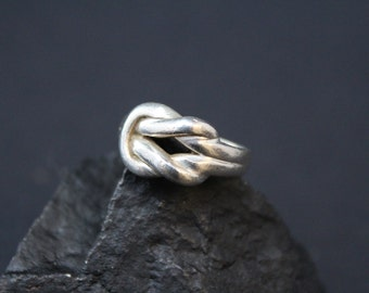Sterling Silver Sailors Knot Rope Ring