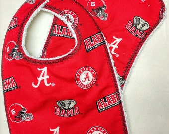 Alabama Crimson Tide Bib and Burp Cloth