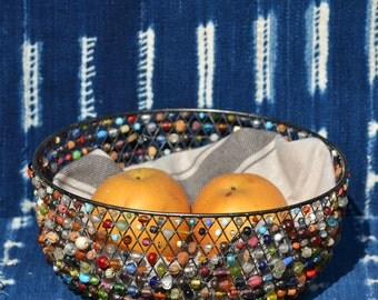 Bead and Wire Bread or Fruit Bowl