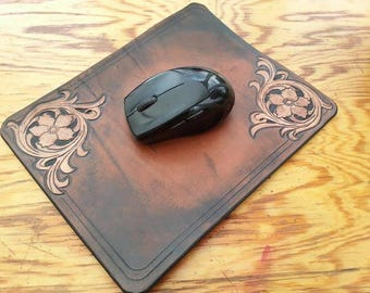 Hand made floral mouse pad