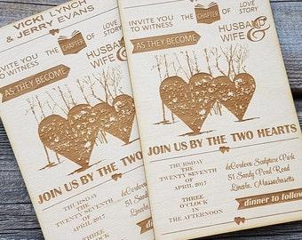 Holz Einladung Einladung Einladungen Hölzerne Hochzeit Einladungen  Rustikale Einladungen Zeuge Hochzeiteinladung Kundenspezifische Graviert