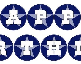 Dallas Cowboys Birthday Banner - Digital Download