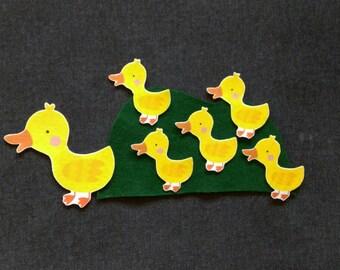 5 Little Ducks Felt Story Set // Flannel Board Story Set // Preschool // Teacher Story // Counting //