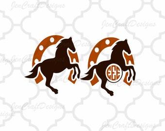 Horse Monogram Svg Cuttable Design SVG, Eps, Dxf Png Cut files for Cricut DS, Silhouette Instant download