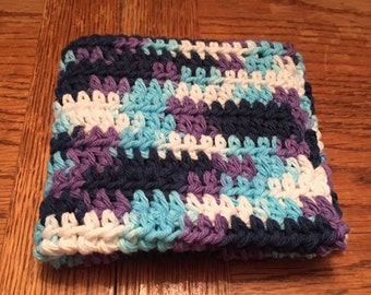 Crocheted Dishcloths Washcloths -- Moonlight