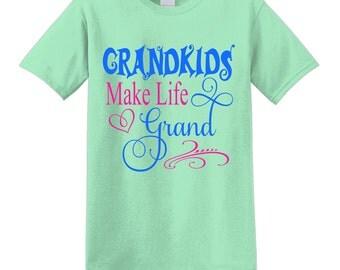 Grandkid tshirt, grandma tshirt, grandmother tshirt, grandma shirt, grandma t-shirt, custom tshirt, custom t-shirt, grandma gift