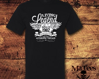 36th Birthday, 36 Birthday, 36th Birthday Shirt, 36 Birthday Shirt, 1982, Living Legend, Birthday, Birthday Gift, Birthday Shirt, T-Shirt