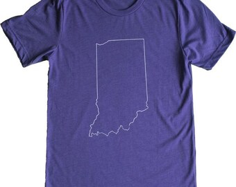 Simply Indiana Tee (Heather Purple)